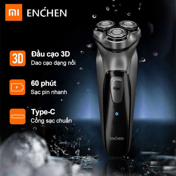 Bảng giá Máy cạo râu Xiaomi Enchen, dao cạo nổi 3D an toàn, cạo sạch, phiên bản sạc pin bằng cáp sạc Điện máy Pico