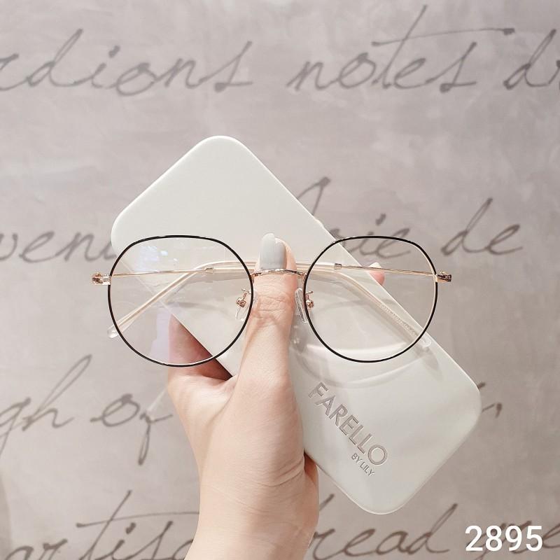 Mua Kính giả cận Lily Eyewear gkl2895, mắt kính nữ gọng kính cận thời trang, mắt tròn gọng kim loại chắc chắn, phù hợp với khuôn mặt nhỏ, unisex hottrend 2895