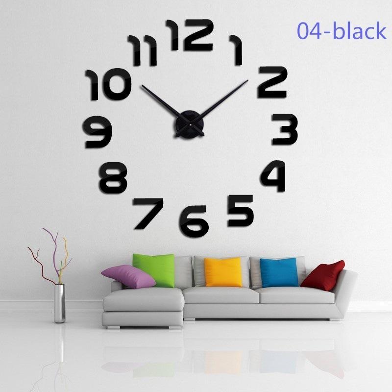 Đồng hồ trang trí treo tường - gắn tường sáng tạo 3D DH08 Decoshop68 giá tốt kích thước lớn