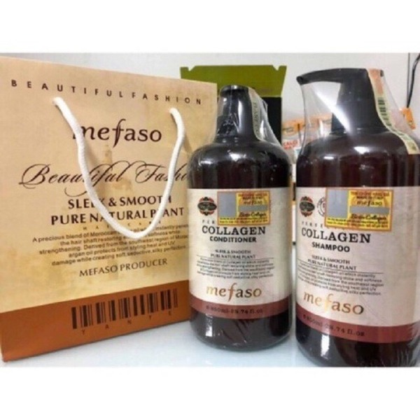 Cặp dầu gội xả Collagen mefaso