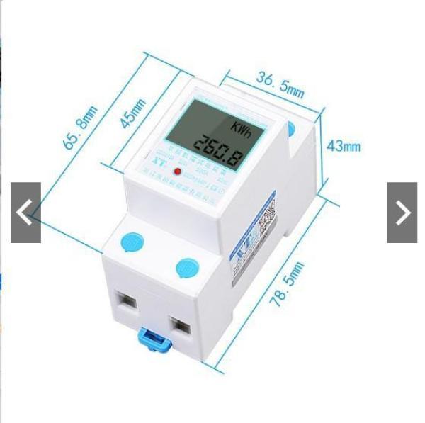 Công tơ điện tử, thiết bị đo công suất SAITON ABB 65A dùng lắp nhà trọ, hoặc kiểm tra tiêu thụ điện của thiết bị điện, tiêu thụ điện gia đình shop Aquahome
