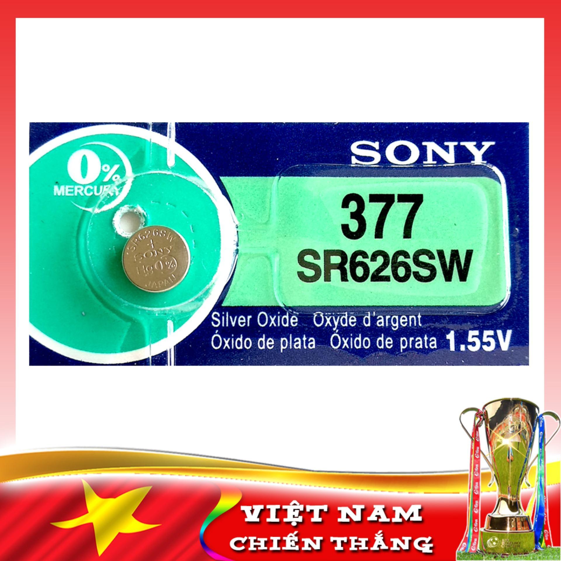 Pin đồng Hồ đeo Tay SONY 626 JAPAN (377-SR626SW) Thời Gian Sử Dụng Trung Bình 2 Năm Giảm Giá Khủng