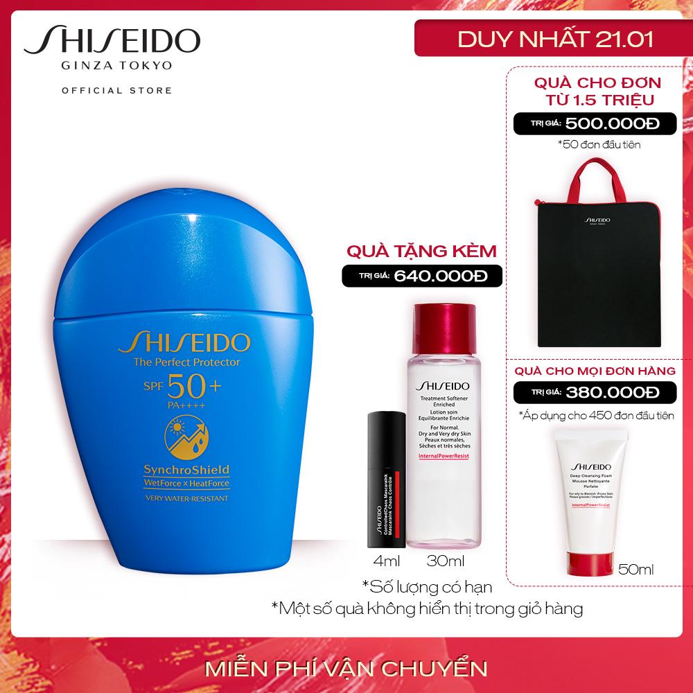 [Ưu đãi chào năm mới] Kem chống nắng dạng sữa Shiseido GSC The Perfect Protector 50ml