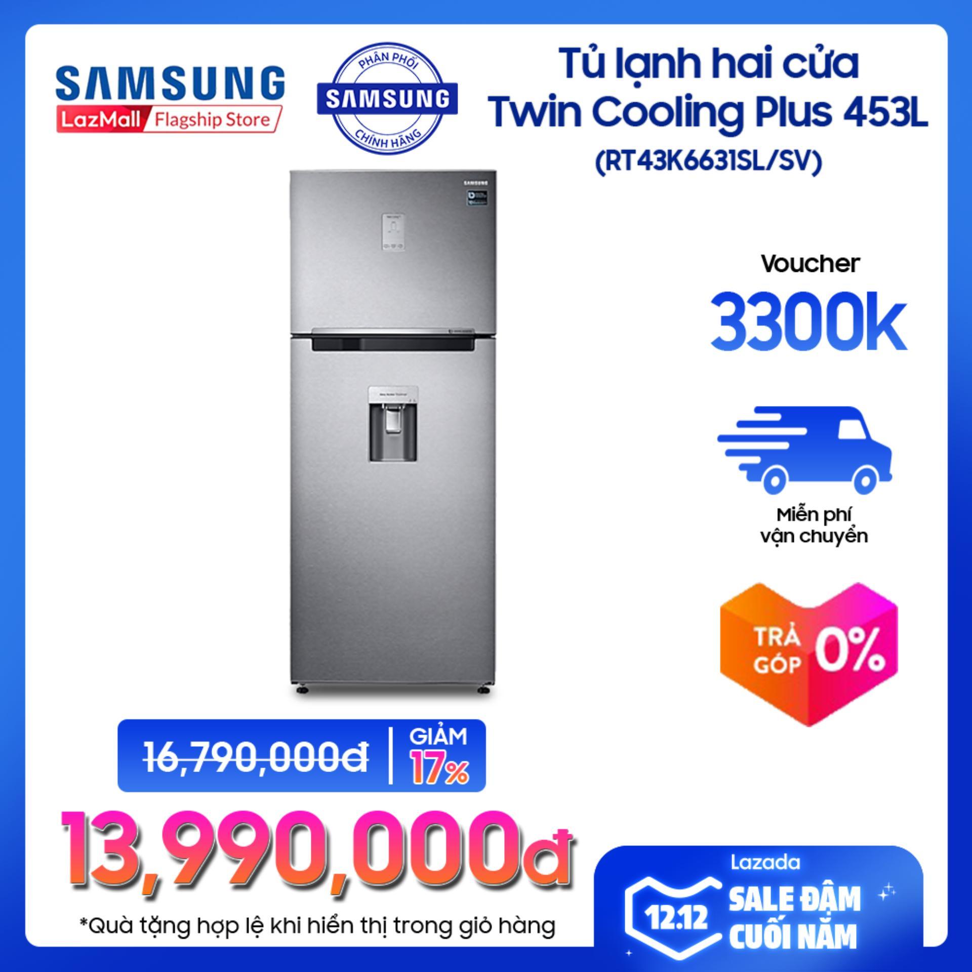 Siêu Tiết Kiệm Khi Mua Tủ Lạnh Samsung 2 Cửa Twin Coolong Plus Digital Inverter RT43K6631SL/SV 442 Lit (Xám) - Hãng Phân Phối Chính Thức, Tiết Kiệm điện