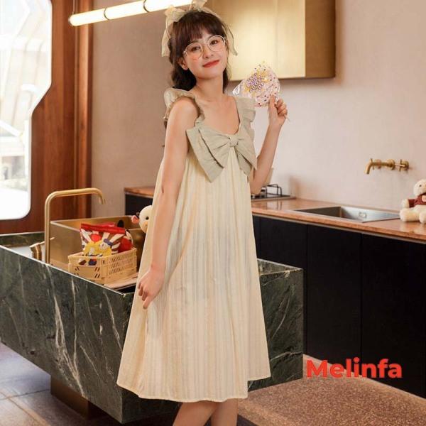 Nơi bán Váy ngủ hai dây tiểu thư chất cotton nhiều màu mã VAV0166