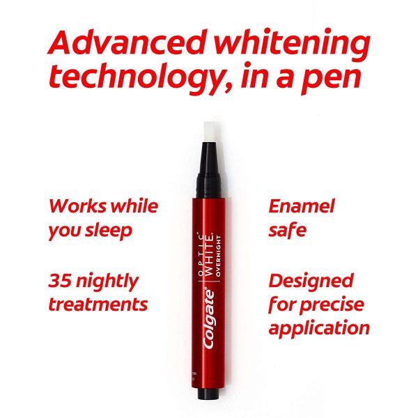 Bút tẩy trắng răng Colgate Optic White Overnight 2,5ml-chuẩnauth xả kho sale mạnh