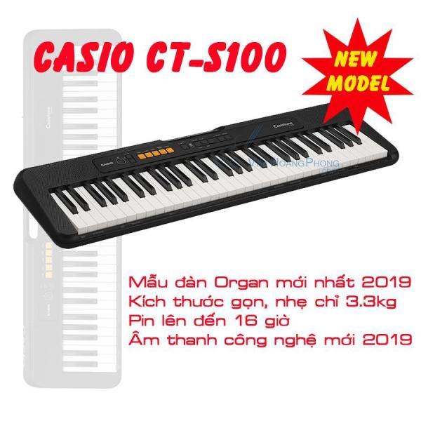 Đàn Organ Casio CT-S100 (CTS100) kèm Giá nhạc và Adaptor - Bảo Hành Chính Hãng 24 tháng -  HappyLive Shop