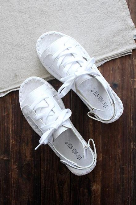 Tao Nhã Phong Cách Retro Giày Trắng Vận Động Giày Trắng Giầy Nữ Đế Bằng Dép Lê Hè Phiên Bản Hàn Quốc Phong Cách Mori Giày Đi Biển Giày Vải Nữ giá rẻ