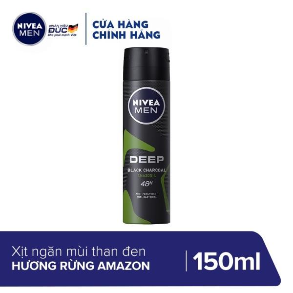 Xịt ngăn mùi Nivea Than Đen Hương Rừng Amazon 150ML - 85371