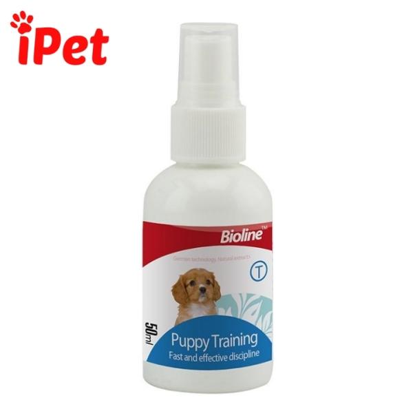 Chai Xịt Hướng Dẫn Đi Vệ Sinh Cho Chó Đi Đúng Chỗ Bioline Puppy Training - iPet Shop