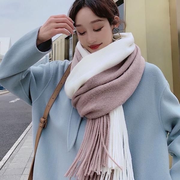 Khăn quàng cổ nam nữ chất len dạ Cashmere pha màu style Hàn Quốc khăn giữ ấm Mon ami