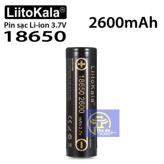 01 Pin sạc LiitoKala Lii-26A Pin Lithium-ion 3.7V 18650 2600mah cao cấp thumbnail