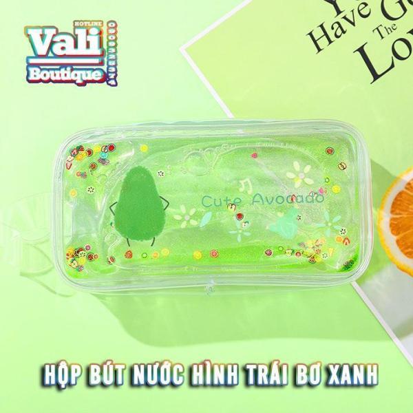 Mua Hộp bút nước trong suốt hình quả bơ - nhiều màu - tặng kèm bút hình thú mẫu ngẫu nhiên