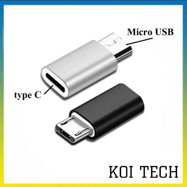 Đầu chuyển Jack chuyển adapter chuyển đổi từ đầu usb type c sang micro usb cho andoird