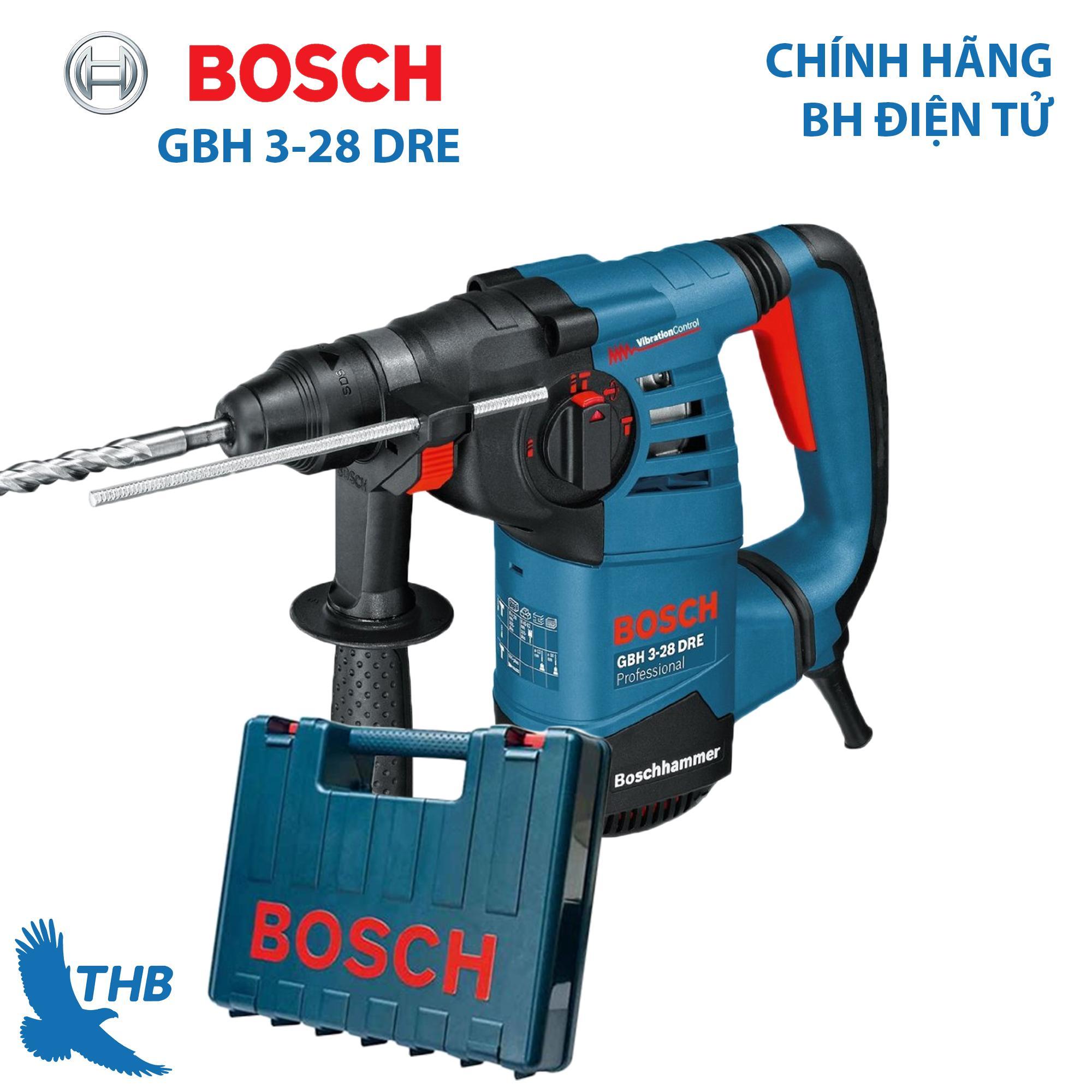 Máy khoan búa Máy khoan bê tông Bosch GBH 3-28 DRE Công suất 800W Mũi khoan bê tông 28mm Bảo hành điện tử 12 tháng