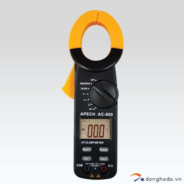 Ampe kìm đo AC APECH AC-800 (600A, Made in Taiwan)