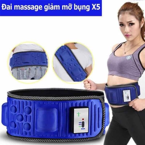 Đai Massage Giảm eo toàn thân X5, Dai massage giam mo bung - Đai matxa giảm cân giảm mỡ X5, giảm cân hiệu quả-Đai massage bụng X5 giảm mỡ bụng hiệu quả, Đai massage bụng x5 cao cấp