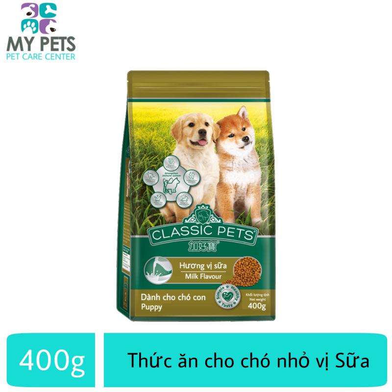 Thức ăn cho chó nhỏ hương vị sữa - Classic Puppy gói 400g