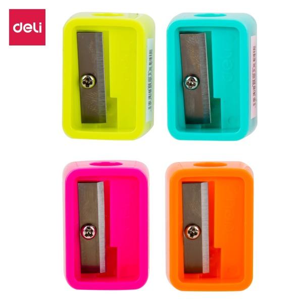 Mua Gọt bút chì mini Deli - Hồng, Cam, Xanh dương, Xanh lá - 4 cái màu ngẫu nhiên - E0594