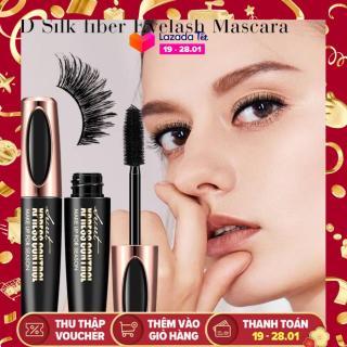 Macfee 4D Silk sợi lông mi không thấm nước mascara-blackest đen dài bền mở rộng trang điểm Kit đen thumbnail