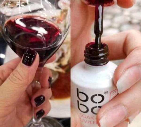 sơn gel bob màu đỏ rượu vang chai 15ml dùng chăm sóc trang trí móng HNnail shop giá rẻ