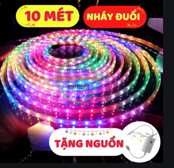 [ 10 Mét ] Dây đèn led chạy đuổi chip 2835, Dây đèn led trang trí,Tặng Kèm Nguồn. Đèn bàn thờ- đèn nháy -đèn chớp, dây led đuổi, đèn led trang trí