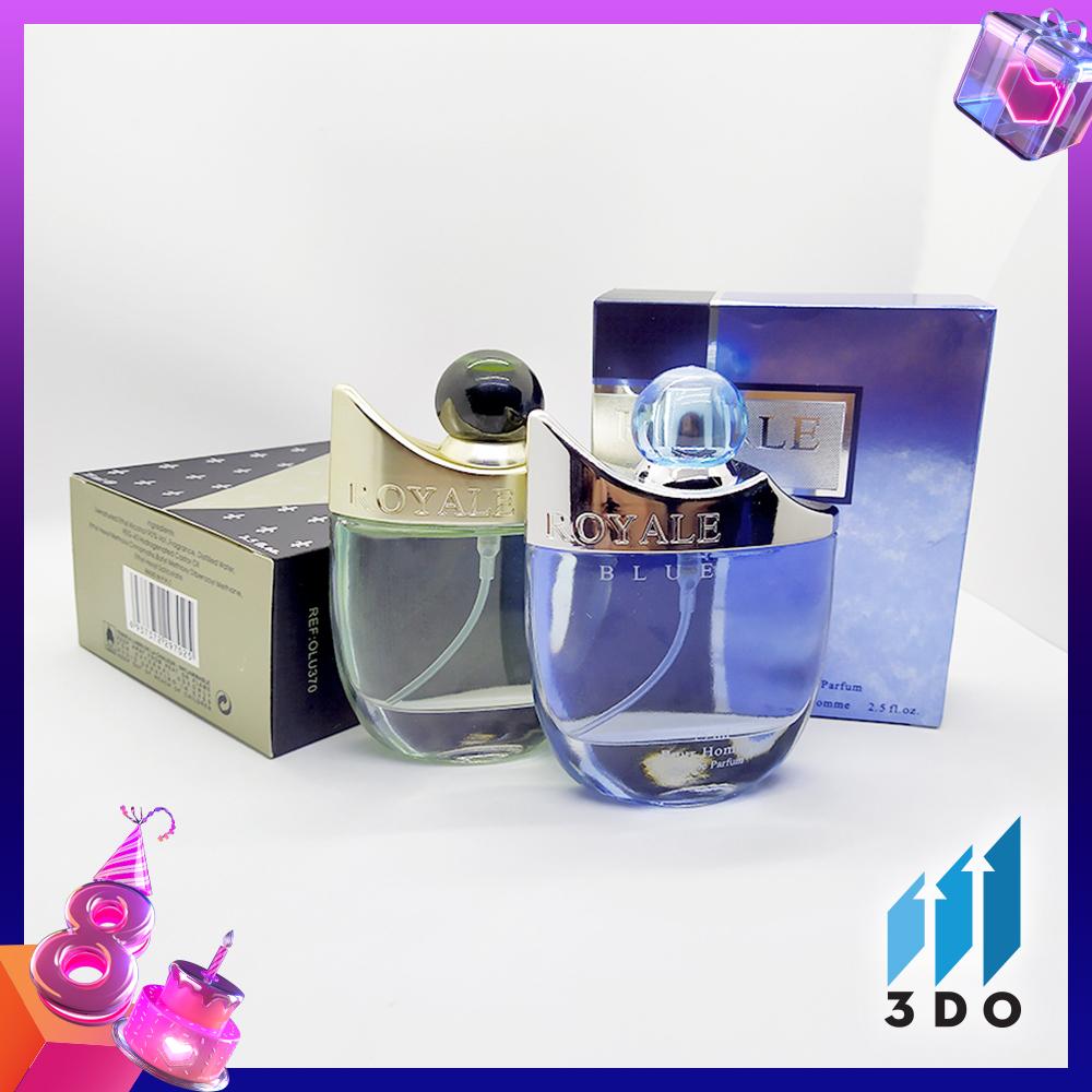 Nước hoa nam cao cấp ROYALE 75ml, phân phối chính hãng bởi 3DO, nước hoa nam vương, mùi hương cô đặc thơm lâu đến 8h, quý phái, lịch lãm. nhập khẩu