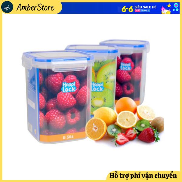 COMBO 4- Hộp đựng thực phẩm - Hôp đựng Happi Lock 900ml - 1200ml - Nắp cài 4 cạnh chắc chắn - để được nhiều thực phẩm - hộp đựng thực phẩm tủ lạnh - hộp đựng thực phẩm đa năng - Hàng chất lượng cao