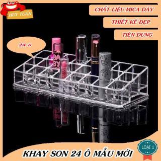 Khay Son Mica Loại Dày Mẫu Mới Kèm Hộp, Khay Son 24 Ô, Khay Đựng Son Trong Suốt Huy Tuấn thumbnail