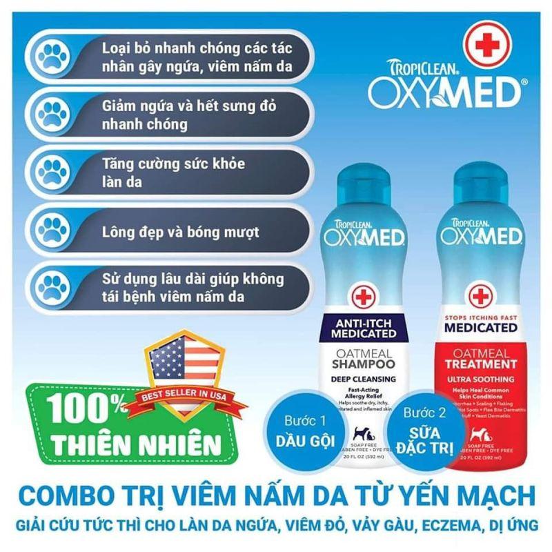 Dầu gội đặc trị viêm da Oxymed - 592ml