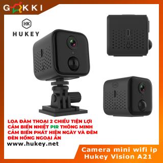 Camera mini wifi IP Hukey Vision A21 siêu nét Full HD 1080P - Cảm biến nhiệt PIR-Cảm biến hồng ngoại ngày và đêm thumbnail