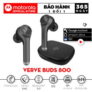 Tai nghe nhét tai bluetooth không dây TWS sạc không dây - Motorola - VerveBuds800-Hỗ trợ sạc không dây- Type C- Thời gian chơi nhạc 18h thumbnail