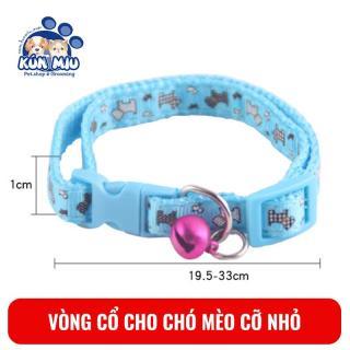 Vòng cổ chuông cho chó mèo Ngáo Và Gâu Đần độ rộng 1cm nhiều họa tiết thumbnail