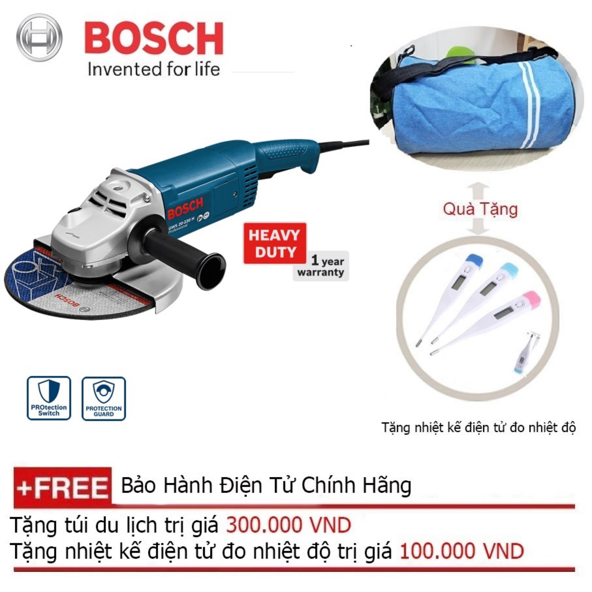 Máy Mài Góc Bosch GWS 20-230 + Quà tặng alo du lịch