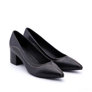 Giày nữ văn phòng gót lớn họa tiết