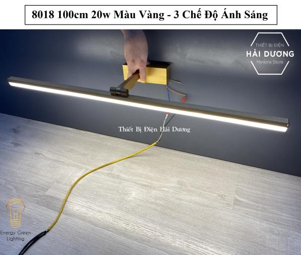Bảng giá Đèn soi tranh - Đèn rọi gương Led Model 8018 100cm 20w 3 Chế Độ Ánh Sáng - Điều chỉnh được góc chiếu