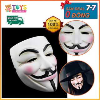 Mặt nạ hacker, mặt nạ hóa trang lễ hội cho bé, chất liệu nhựa ABS cao cấp an toàn cho bé thumbnail