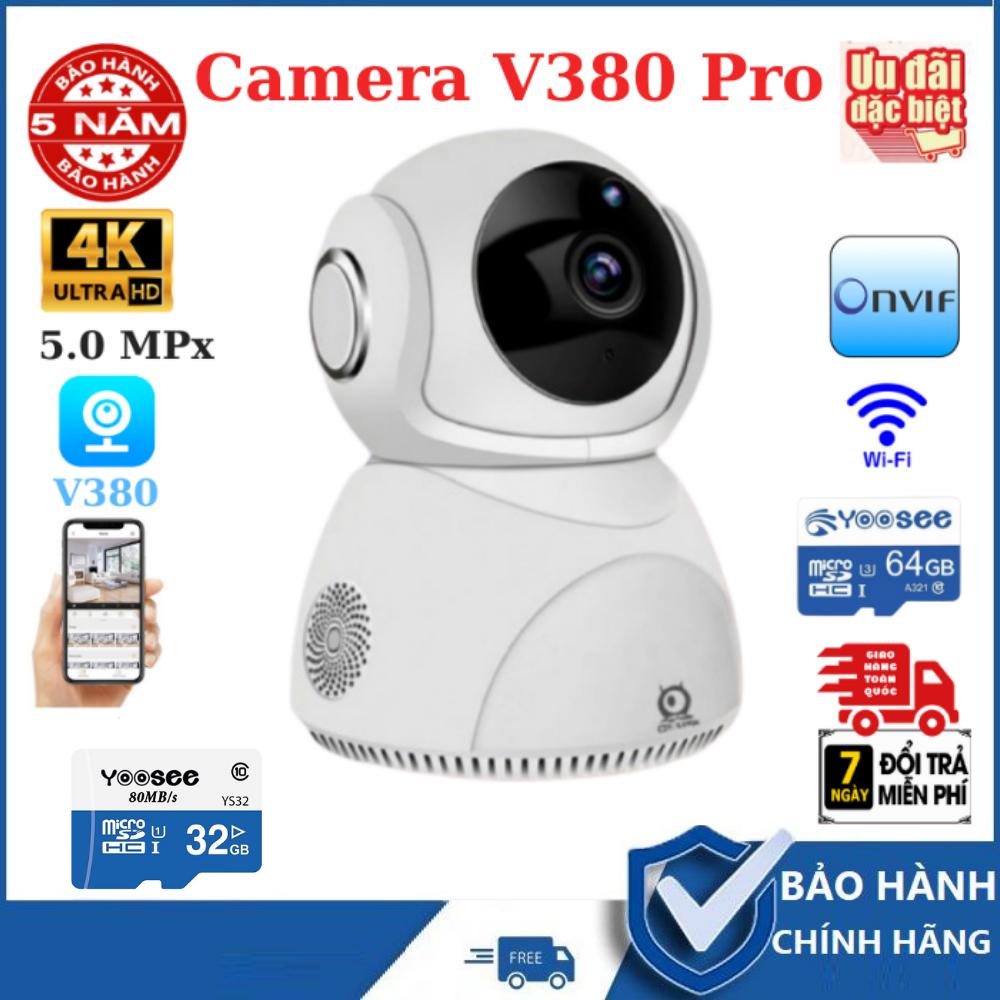 [KÈM THẺ 32G HOẶC 64G THEO MÃ HÀNG BẠN CHỌN]Camera wifi 360 V380Pro Q8 5MPX nhận diện khuôn mặt , Camera V380 Pro Q8 đàm thoại 2 chiều xoay 360 độ,camera wifi, camera IP camera an ninh camera chống trộm , camera quan sát