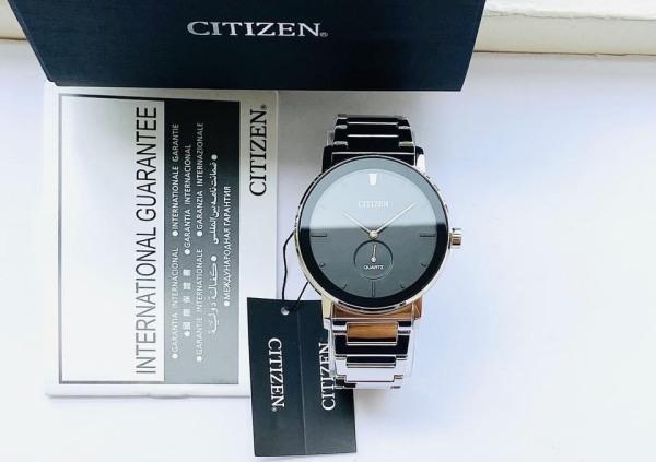 Đồng hồ Nữ Citizen EQ9060-53E Size 34mm,Mặt đen,Kim rốn-Máy Pin Quartz-Dây kim loại thép cao cấp