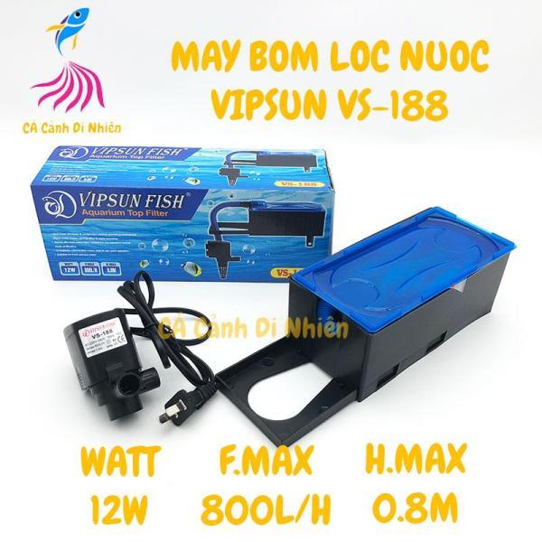 Bộ máy bơm + hộp lọc nước VIPSUN VS-188 cho hồ cá cảnh(ko kèm bông lọc)