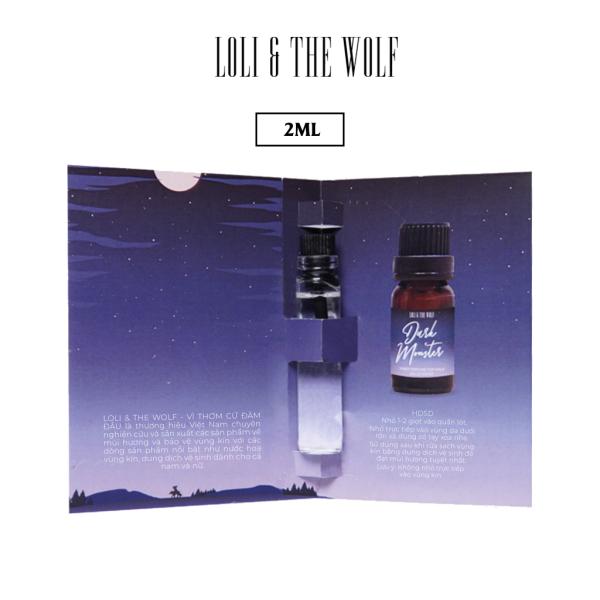Nước hoa vùng kín nam Dark Monster chai 2ml nhỏ gọn tiện dụng - LOLI & THE WOLF