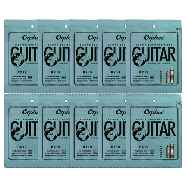 Orphee 10 Set 6Pcs/Set Guitar String RX19 Nickel Alloy String Super Light Electric Guitar Strings