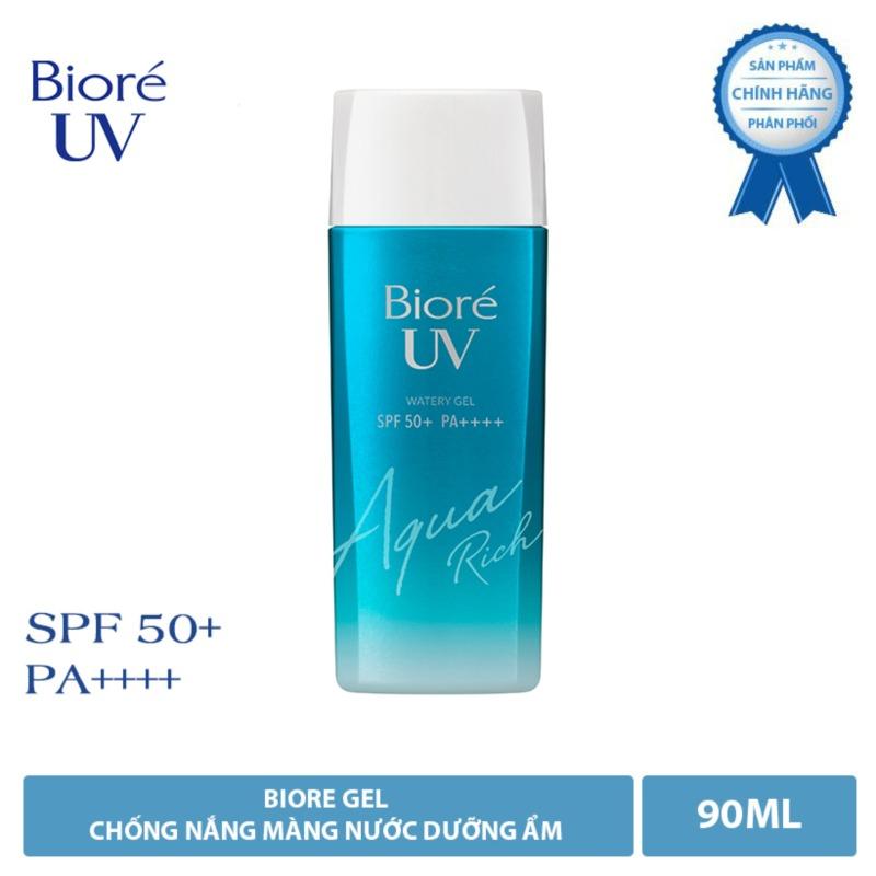 BIORÉ GEL CHỐNG NẮNG MÀNG NƯỚC DƯỠNG ẨM Bioré UV Aqua Rich Watery Gel  SPF50+/PA++++ 90ML nhập khẩu