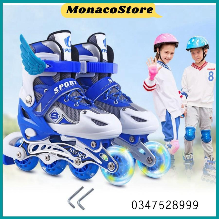 Mua Giày patin trẻ em có bánh xe phát sáng, full bảo hộ giày sport hàng chất lượng