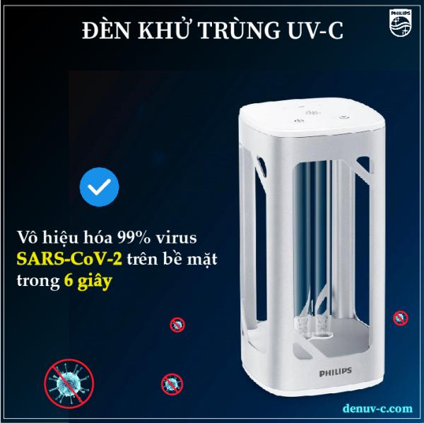 Đèn khử trùng Philips UV-C diệt vi khuẩn, nấm mốc, virus - làm sạch không khí