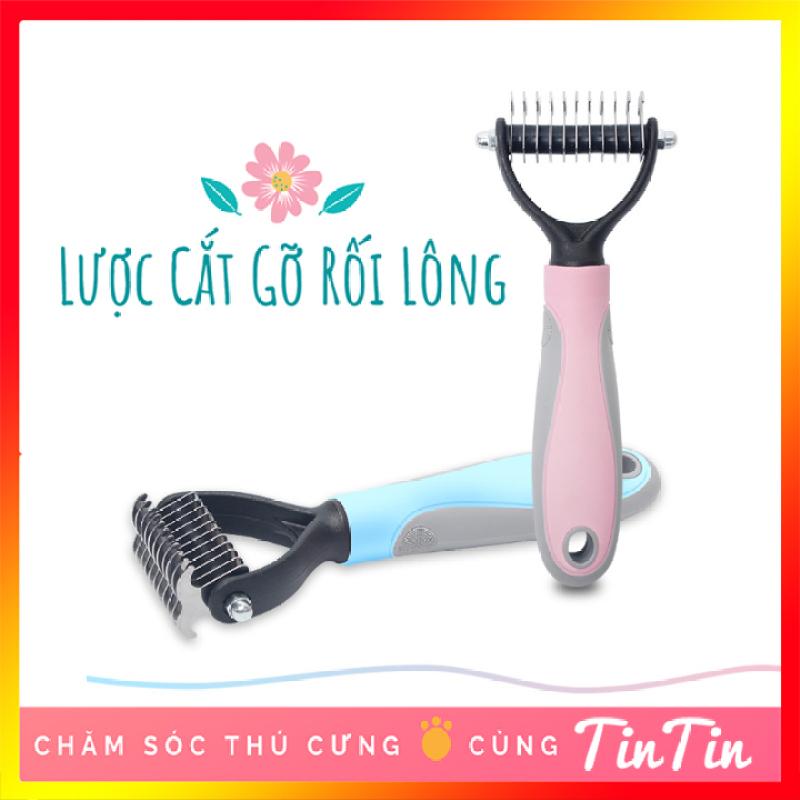 Lược Cắt Gỡ Rối Lông Chó Mèo Loại To Lưỡi Cắt 7cm #Tintin Pet Store