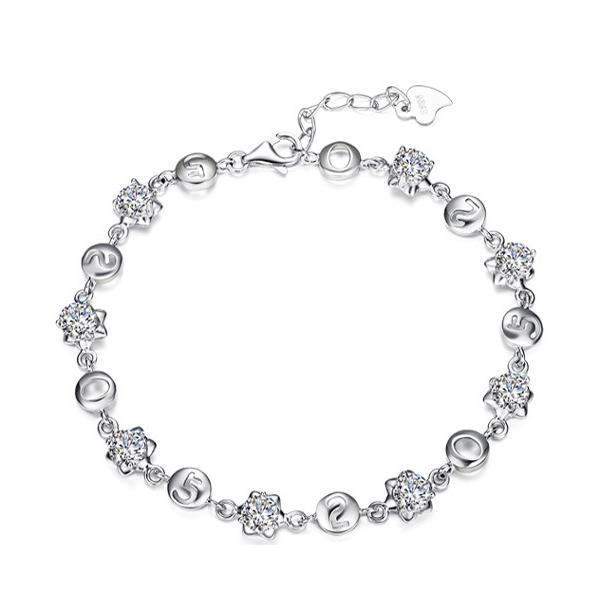 Vòng đeo tay nữ bạc Hoa pha lê 520