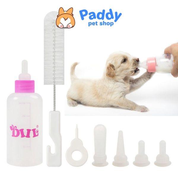 Set Bình Bú Sữa 4 Món Cho Chó Mèo Con