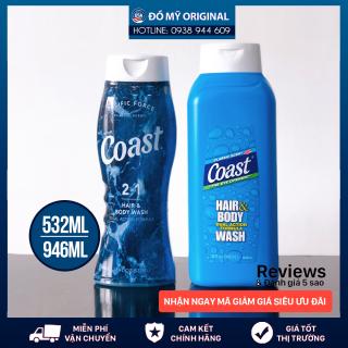 Sữa tắm gội Coast Mỹ 2in1 Hair And Body cho nam chai 532ml Làm sạch cơ thể, cung cấp độ ẩm cho da, hương thơm mạnh mẽ thumbnail