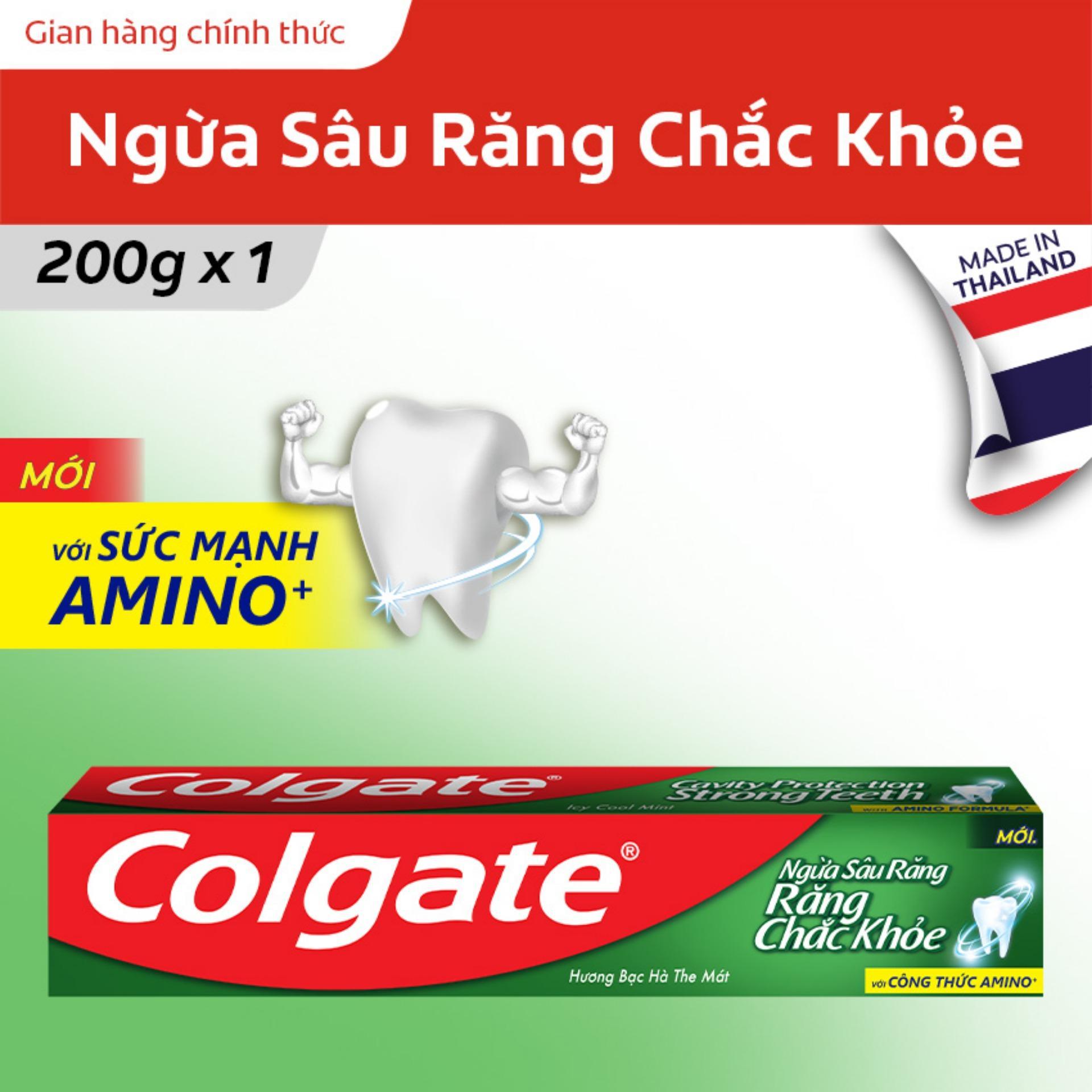 Kem đánh răng Colgate ngừa sâu răng răng chắc khỏe 200g Thái Lan